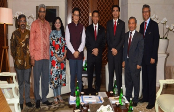 Minister of State for Home Affairs, Shri Kiren Rijiju with Mr. General Wiranto, Coordinating Minister of Political, Legal and Security Affairs
