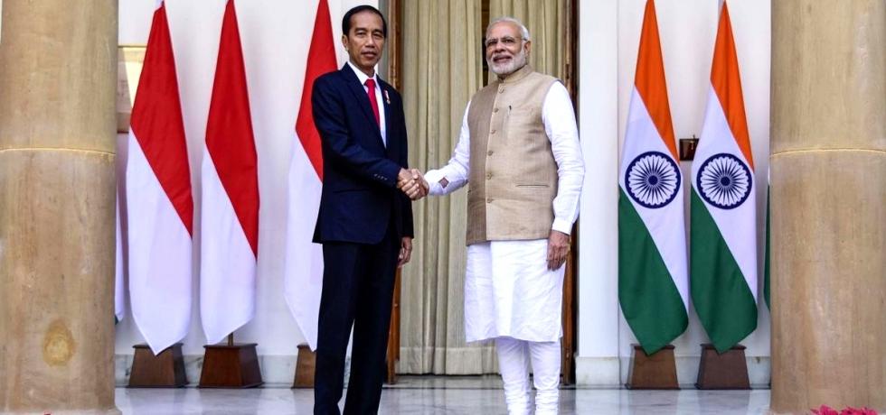 Prime Minister Mr. Narendra Modi with Indonesian President Mr. Joko Widodo