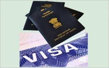 Grant of e-visa on a passport