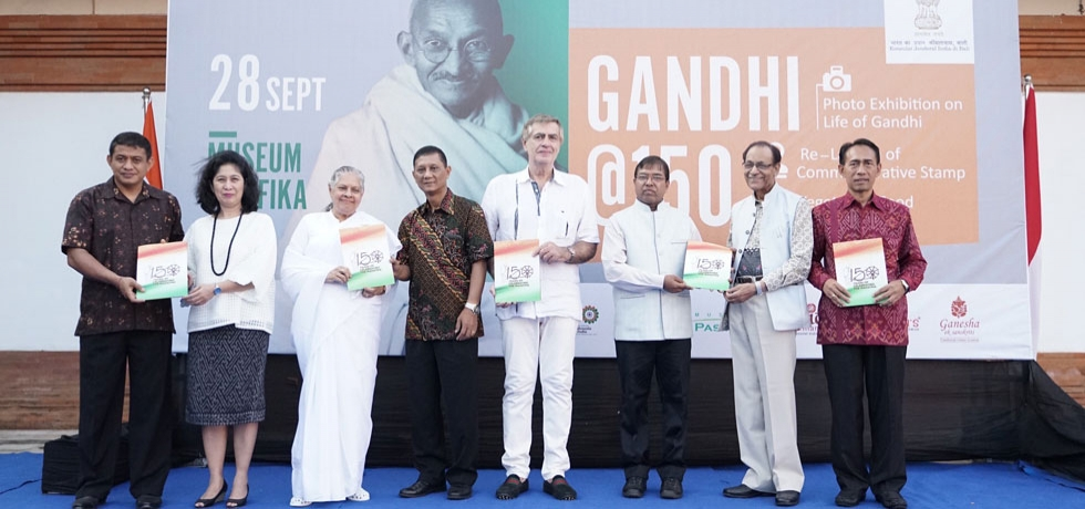 Celebrations on the 150th Birth Anniversary of Mahatma Gandhi- Re-launch of commemorative stamp on 28 September 2019